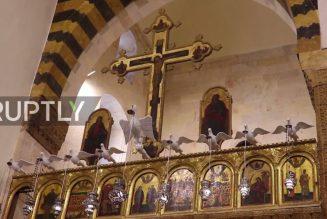 La cathédrale grecque catholique melkite Notre Dame de la Dormition d'Alep rouverte au culte