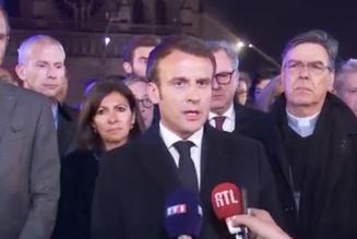 """Emmanuel Macron : """"il faut respecter un temps de recueillement"""