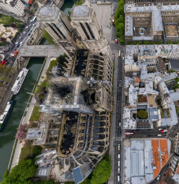 Notre-Dame de Paris vue du ciel