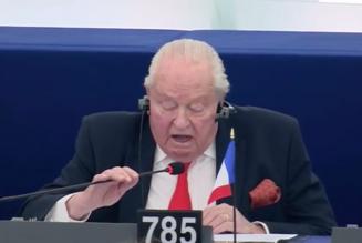 Ultime intervention de Jean-Marie Le Pen au Parlement européen : « La postérité vous maudira »