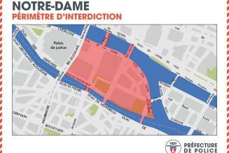 Sécurité autour de Notre-Dame de Paris : la moitié de l'Ile de la Cité interdite