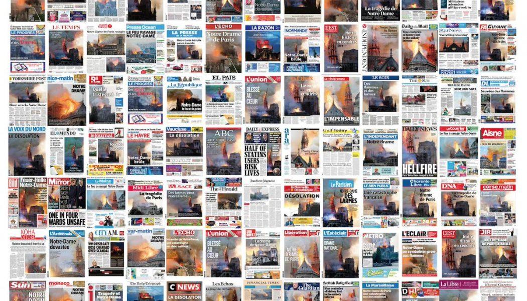La presse unie autour de Notre-Dame de Paris