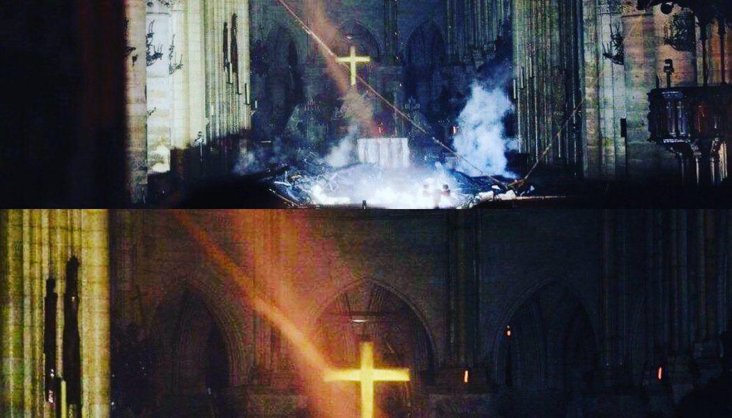 Dans la croix de Notre-Dame qui résiste aux flammes dévastatrices, un signe d'Espérance et de Résurrection