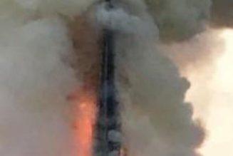 Tentative d'incendie dans une église