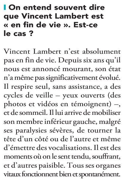 Vincent Lambert : les partisans de sa mort s'acharnent tous azimuts 2-1