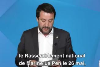 Matteo Salvini appelle les Français à voter RN pour les Européennes