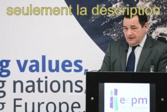 Discours de Jean-Frédéric Poisson devant le Mouvement politique chrétien européen