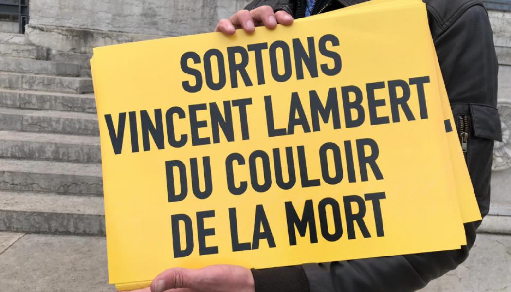 Manifestation à Lyon pour demander le transfert de Vincent Lambert dans une unité spécialisée