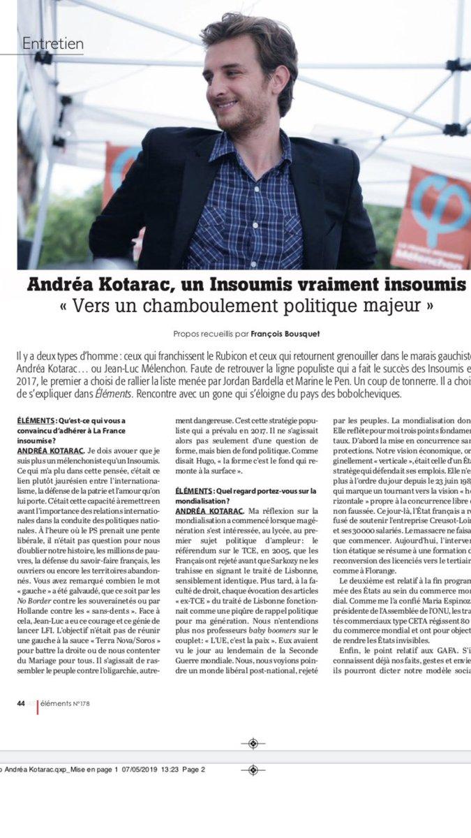 Andr a kotarac conseiller r gional de la france insoumise votera rassemblement national le - Le salon beige ...