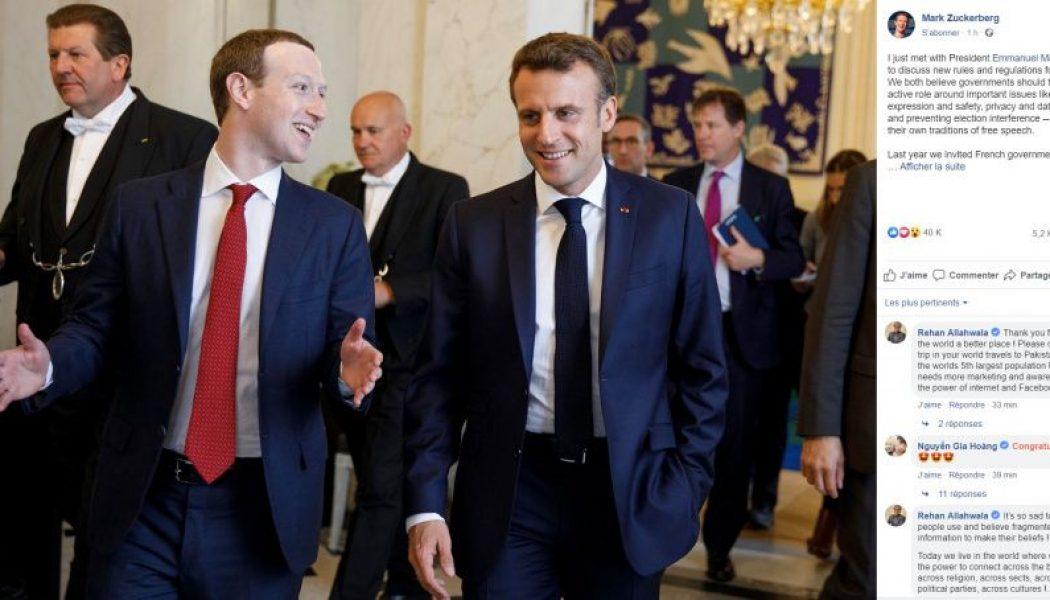Rencontre entre Macron et Zuckerberg : des intentions liberticides ?