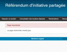 Référendum ADP : le ministère de l'Intérieur est intervenu pour empêcher le comptage des soutiens