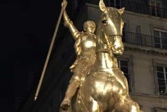 L'étendard de la statue de Jeanne d'Arc n'a pas été vandalisé mais est en réparation