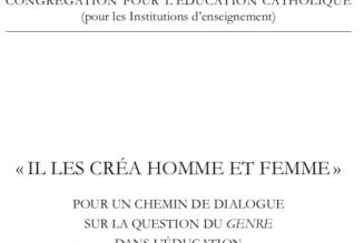 Le Vatican publie un document sur l'idéologie du genre
