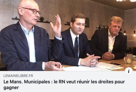 Municipales au Mans : des élus RN et LR côte-à-côte pour une liste d'union