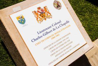 Hommage au lieutenant-colonel Charles-Gilbert de La Chapelle à Orange
