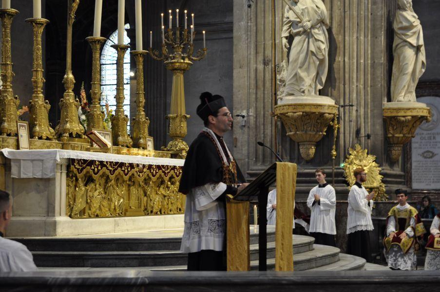 Mgr Leproux : Nous ne sommes pas face à des adversaires de chair et de sang