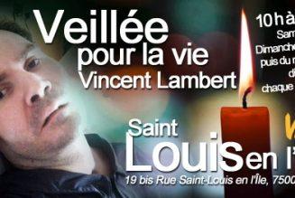 Prière pour Vincent Lambert à Saint-Louis en l'Ile