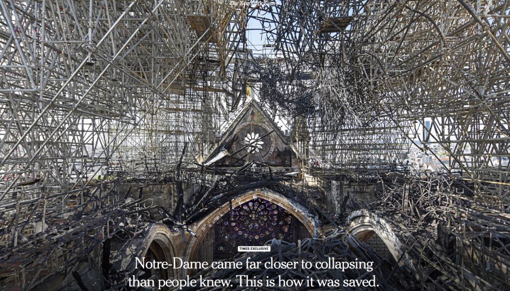 Exceptionnel reportage du New York Times sur Notre-Dame de Paris