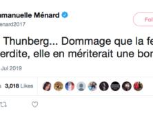 Twitter censure un tweet ironique d'Emmanuelle Ménard sur Greta Thunberg, la nouvelle icône