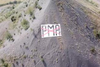 Lens – Hénin: un message anti PMA sur le terril Sainte-Henriette