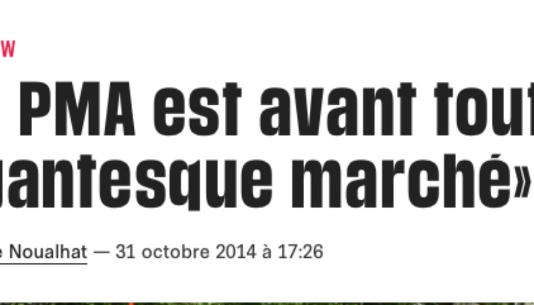 «La PMA est avant tout un gigantesque marché»