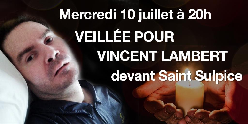 Venez nombreux mercredi 10 juillet à 20h devant Saint Sulpice pour une veillée autour de Vincent