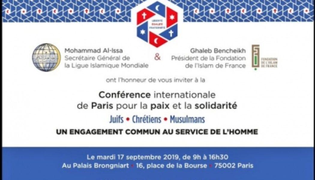 Une conférence islamique « internationale » organisée à Paris : avec le bonjour de Dr Saoud