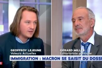 Geoffroy Lejeune donne une leçon à Gérard Miller sur l'immigration