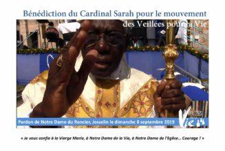 Le cardinal Sarah bénit les veillées pour la vie