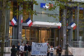 Des Parisiens devant le ministère de la santé pour dire à Mme Buzyn  qu'un enfant ne peut pas être volontairement privé de père