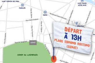 Dimanche 6 octobre : départ à 13h place Edmond Rostand (Paris 6e)