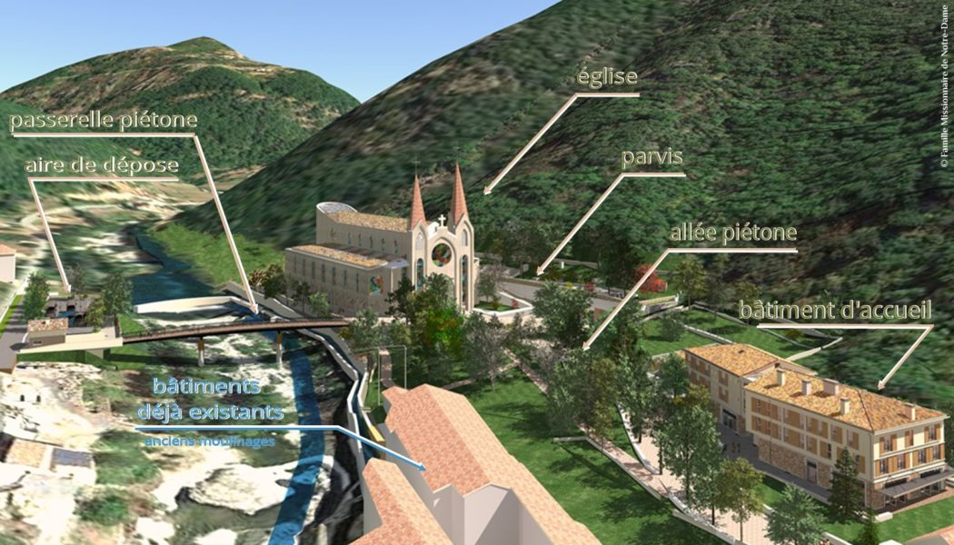 Les travaux du site de Notre-Dame des Neiges à Saint-Pierre-de-Colombier en Ardèche progressent