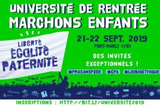 L'Université de rentrée de Marchons Enfants ! aura lieu dans les Yvelines, près de Versailles