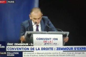 Transcription du discours d'Eric Zemmour à la convention de la droite