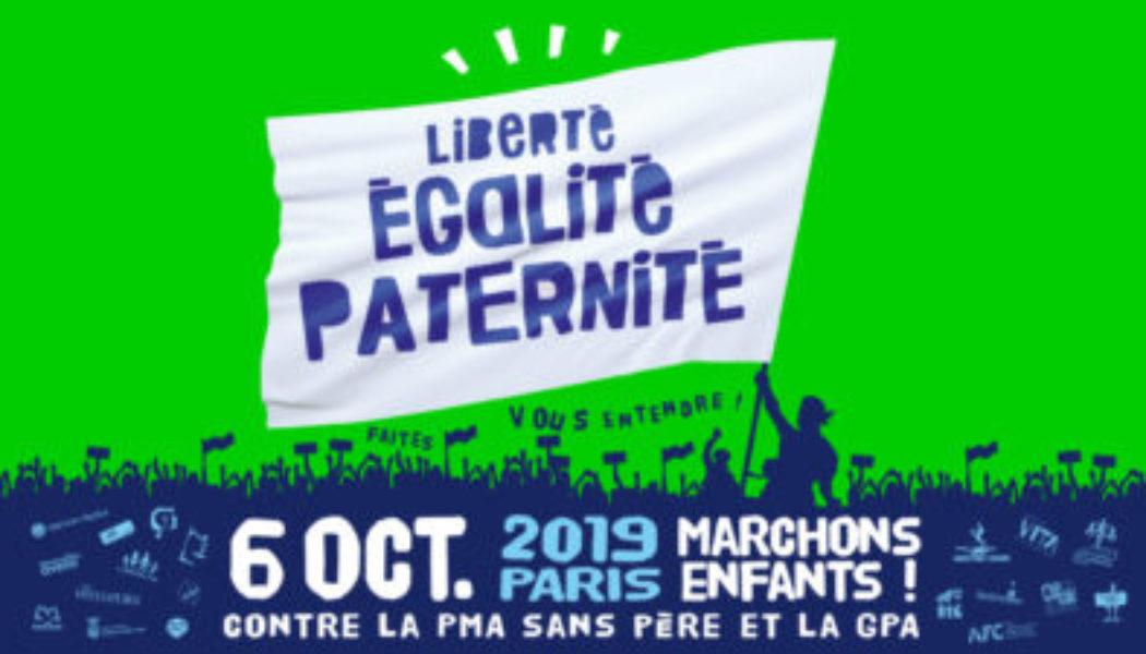 Marchons Enfants : contre la PMA sans père et la GPA (Direct)