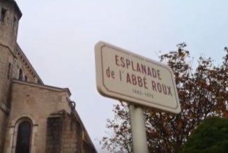 Inauguration de l'esplanade de l'abbé Roux de Chenas