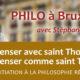 29 octobre à Bruxelles : Penser avec saint Thomas, penser comme saint Thomas (Stéphane Mercier)