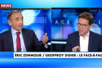 Débat entre Eric Zemmour et Geoffroy Didier sur l'avenir de la droite