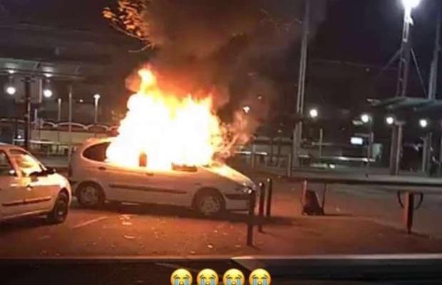 """""""L'oeuvre d'art"""" a été incendiée"""
