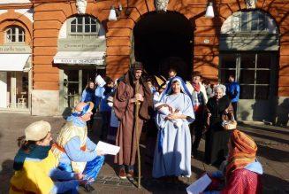 Crèche vivante à Toulouse le 14 décembre