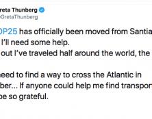 Coincée au pays de Donald Trump, Greta Thunberg appelle à l'aide !