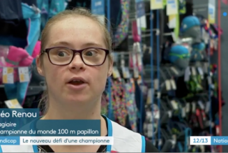 Atteinte de trisomie 21, elle est devenue championne de natation et s'intègre sur le marché du travail