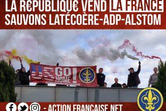 L'Action Française occupe le toit de Latécoère à Toulouse