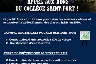 Bordeaux : le collège Saint-Fort lance un appel pour ses travaux