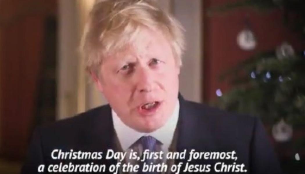 """Boris Johnson : """"Noël est, d'abord et avant tout, la célébration de la naissance de Jésus Christ"""""""