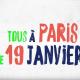 Tous à Paris le 19 janvier !