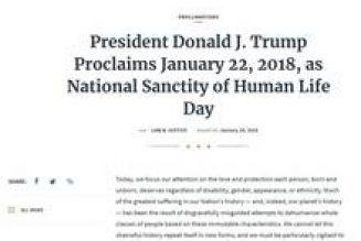 """Donald Trump : """"Nous nous opposons à tout projet qui tente d'affirmer un droit mondial à l'avortement"""""""