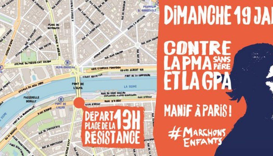 19 janvier : départ de la manifestation place de la Résistance à Paris