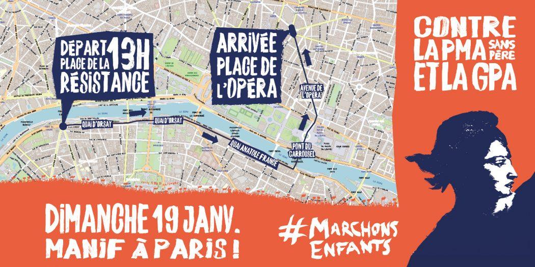 MANIFESTATION MARCHONS ENFANTS DU 19 JANVIER :  RENDEZ-VOUS À 13H, PLACE DE LA RÉSISTANCE