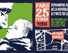 RDV mardi 25/02 à 19h, place Clemenceau à Paris